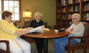 Residents visiting the Willow Brook Library